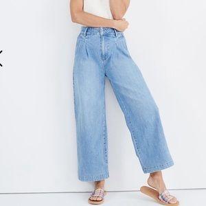 Madewell  Pleated Wide-Leg Jeans Sz 16